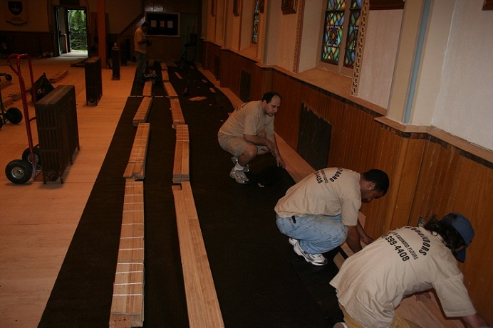Church Hardwood Floors Installation Floor Installation2