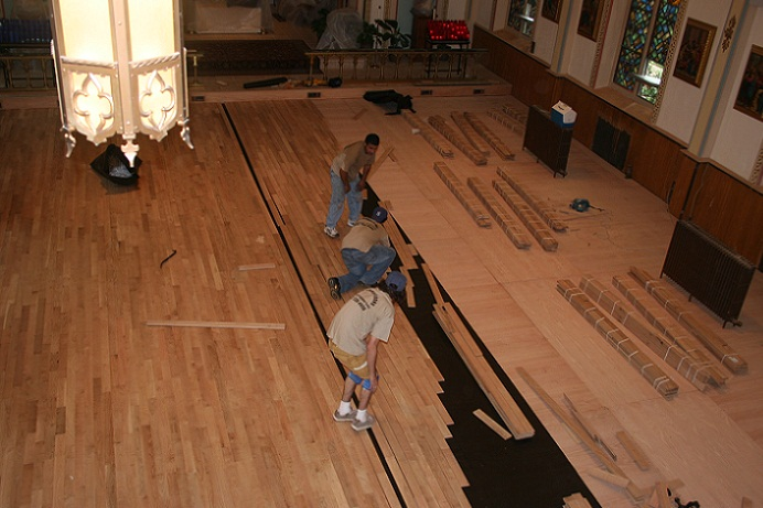 Church Hardwood Floors Installation Floor Installation8