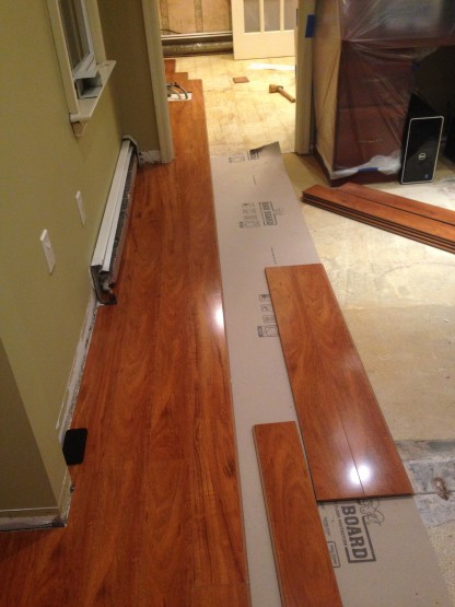 Dental Practice Laminate Floor Installation img1 416x555