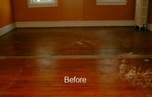 hardwood floor repair and restoration hardwood floor repair Hardwood Floor Repair wodfloor refinishing before 300x193